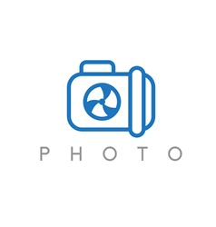abstract icon design template of photo camera vector image