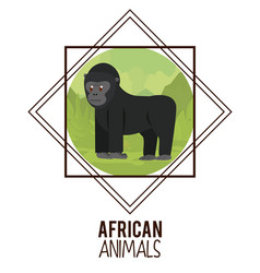 African animals cartoons vector
