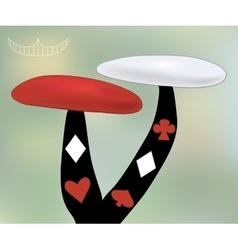 Alice Mushroom from Wonderland World vector