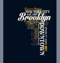 athletic new york city brooklyn typography vector image