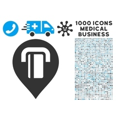 ATM Map Marker Icon with 1000 Medical Business vector image