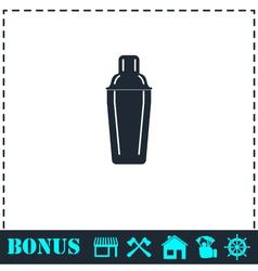 Bar shaker icon flat vector