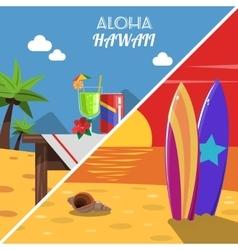 Beach Banner Set vector image