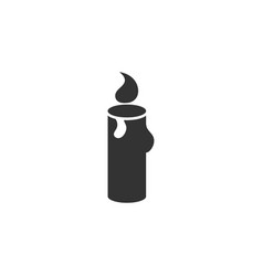 candle icon graphic design template vector image