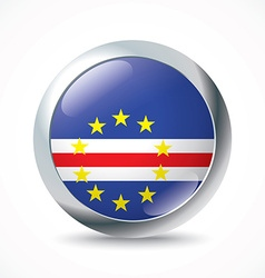 Cape Verde flag button vector image