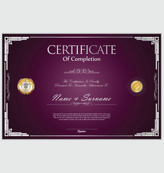 certificate retro design template 04 vector image