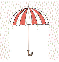 Cute cartoon umbrella vector
