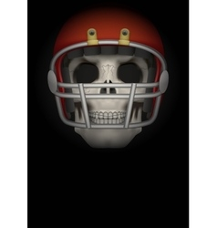 Dark Background of american football vector image