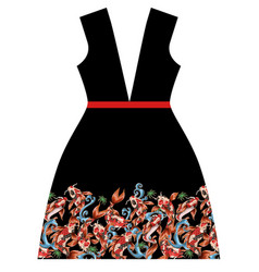 design dress with japanese carp koi vector image