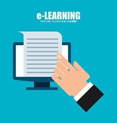 E-learning concept design vector