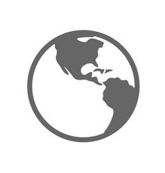 earth planet globe logo design earth planet vector image