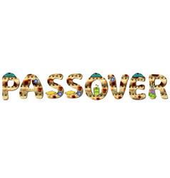 English alphabet for holiday passover of vector