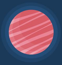fantastic pink planet on dark blue space vector image