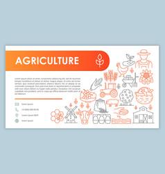 Farming web banner business card template vector