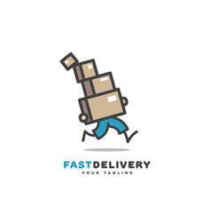 Fast delivery logo vector