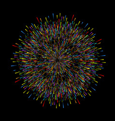 fireworks on dark background christmas new year vector image