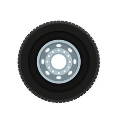 flat icon of automobile wheel car disk vector image