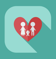 Flat modern design with shadow icons loving family vector