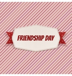Friendship Day greeting Card with Ribbon vector image