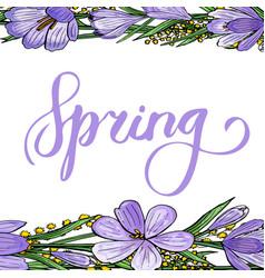 gentle spring banner vector image