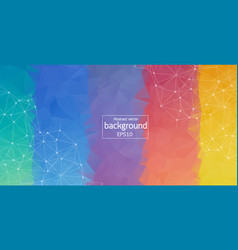 geometric rainbows color polygonal background vector image