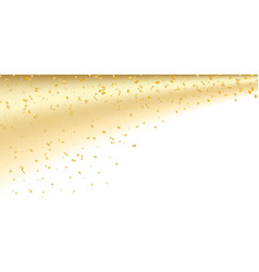 gold white confetti background vector image