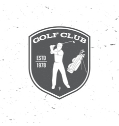 Golf club concept with golfer and bag vector image