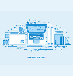 graphic web design drawing and painting user vector image