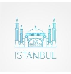 hagia sophia - symbol turkey istanbul vector image