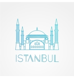 Hagia Sophia - the symbol of Turkey Istanbul vector image