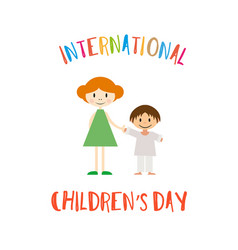 happy childrens day greeting card vector image