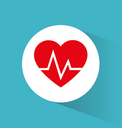 Heartbeart care healthy symbol vector