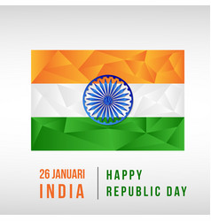 indian national day low poly vector image
