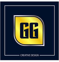 initial letter gg logo template design vector image