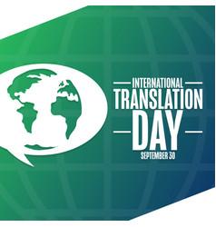 International translation day september 30 vector