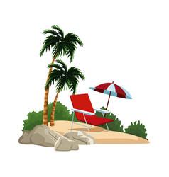isolated island cartoon vector image