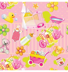 its a girl pattern vector image