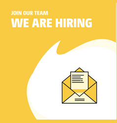 join our team busienss company letter we are vector image