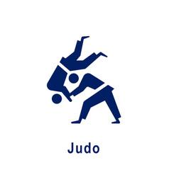 Judo pictograph new sport icon vector