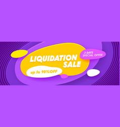 Liquidation sale social media promo ad poster vector