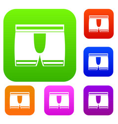 man boxer briefs set color collection vector image