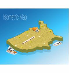 Map america isometric concept vector