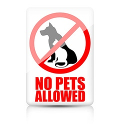 No pets allowed sign vector