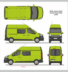 Opel vivaro combi panel van l2h2 2015 vector