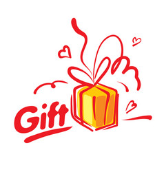 painted gift in the form of boxes vector image