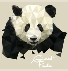 Panda in mosaic style vector
