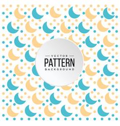 pattern blue orange crescent moon background vector image