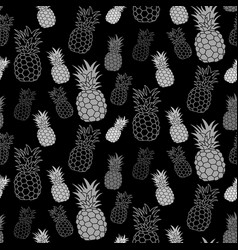 pineapple seamless pattern hand drawn textile vector image