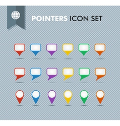 Pointers and speech bubbles icons set EPS10 file vector
