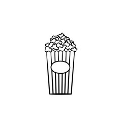 popcorn hand drawn sketch icon vector image